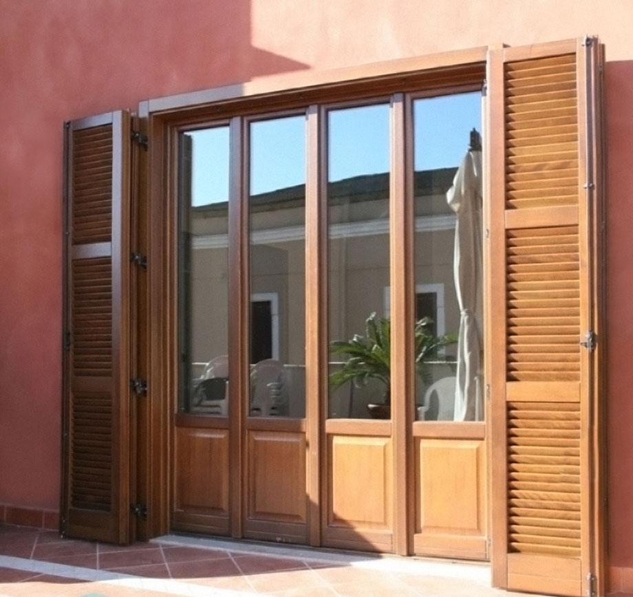 Infissi in legno milano italport produzione e vendita - Finestre esterne in alluminio ...