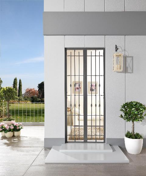 Inferriate e grate di sicurezza milano italport - Grate di sicurezza per finestre prezzi ...
