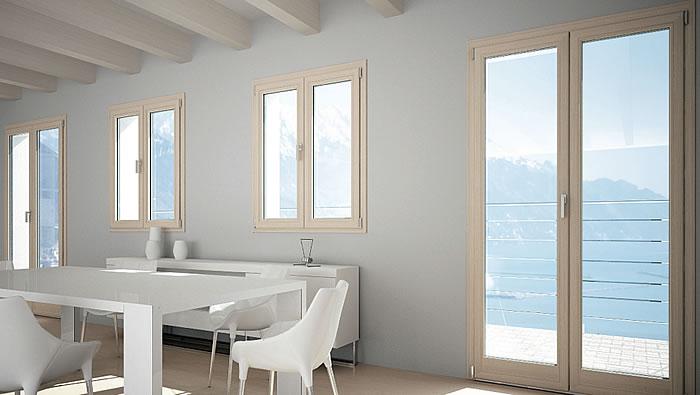 Infissi alluminio legno milano italport produzione e for Infissi in legno bianco