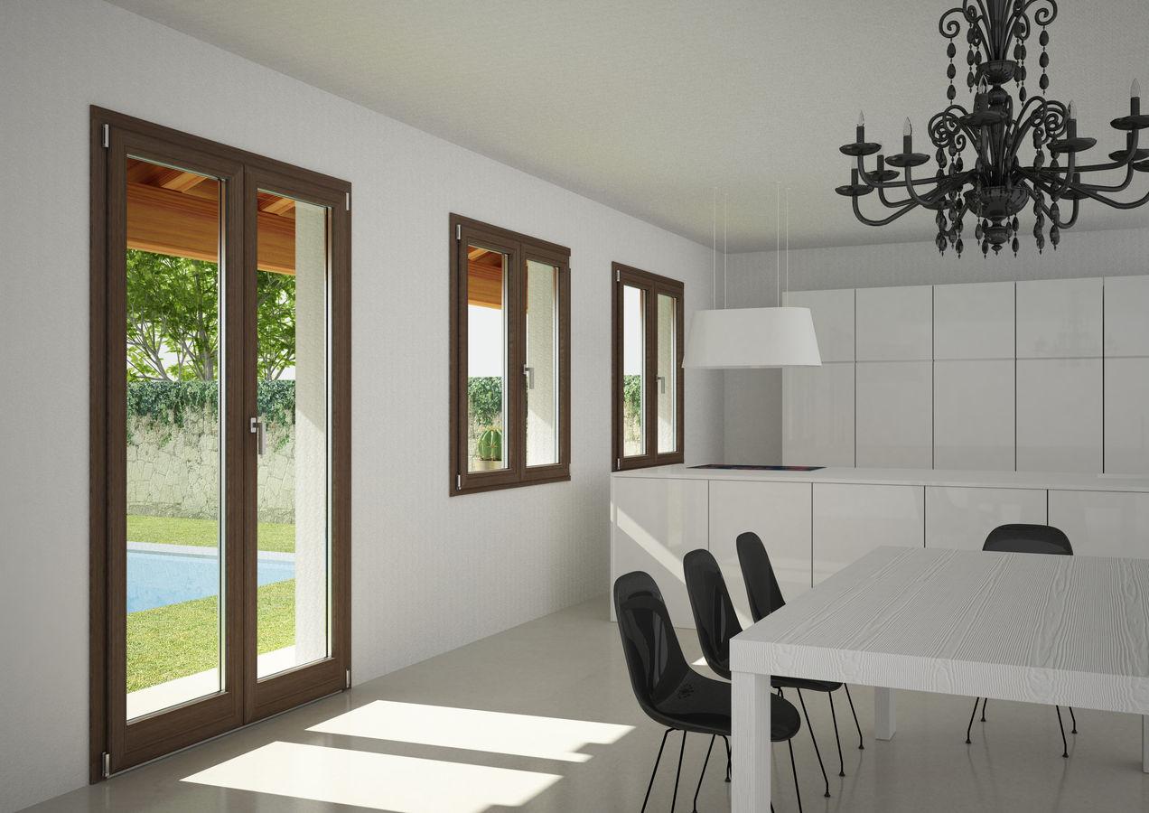 Infissi alluminio legno milano italport produzione e vendita infissi porte e finestre - Quanto costa una porta finestra in pvc ...