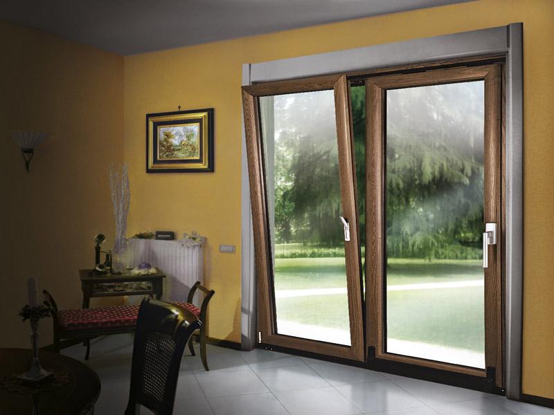 Infissi alluminio legno milano italport produzione e for Prezzi porte finestre in alluminio