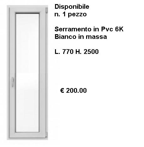Serramento PVC bianco 6K